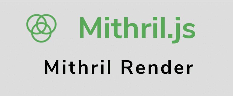 Mithril.js DOM elements Hello World