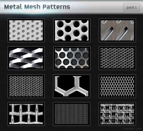 Photoshop metal pattern